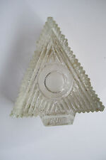 "Avon Christmas Tree Shape Waterfall Glass Votive Candle Holder 2"" Tall 4"" Across"