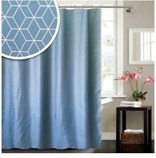 NEW BLUE CANYON GEOMETRIC COLLECTION BATHROOM SHOWER CURTAIN 180X180CM