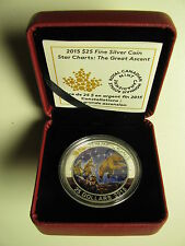 2015 Proof $25 Star Charts #3-The Great Ascent GITD .9999 silver twenty-five