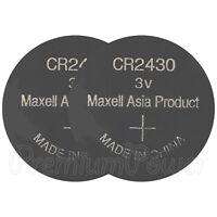 2 x Maxell Lithium CR2430 batteries 3V Coin Cell DL2430 BR2430 ERC2430