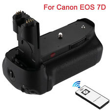 NEW Battery Grip Holder For Canon BGE7 BG-E7 EOS 7D DSLR Cameras +IR Remote US