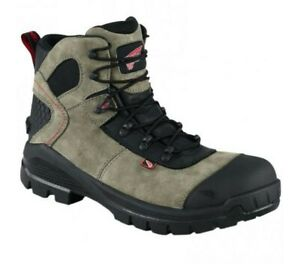 Red Wing shoes 4426 CRV 6-inch Boot Black/ Gray Men size 10.5 aluminum toe