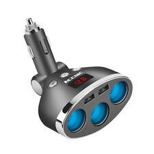 Dual USB Port 3 Way Car Cigarette Lighter Socket Splitter Adapter Charger 12V US