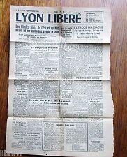 Journal LYON LIBÉRÉ N° 5 jeudi 7septembre 1944