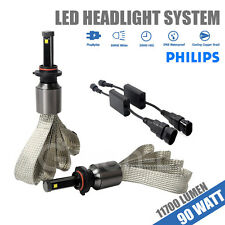 9005 Hb3 Car 90W 11700LM Genuine PHILIPS LED Headlight Kit Hi or Lo Beam Lights
