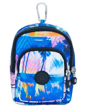 "New Kipling Kami Mini Bag Key Chain - fits iphone 6 - 6"" x 4"" Printed Prism Nwt"