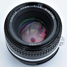 Nikon Nikkor 50mm f/1.8 AIS super sharp Man Focus lens. Exc++. See tst pics.