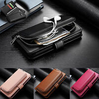 For Samsung Galaxy S7 Edge /S6/S5 Leather Removable Wallet Flip Zipper Card Case