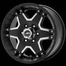 17x8 American Racing Tactic black wheels 6x5.5 +25mm offset