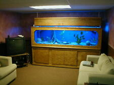 8' Long 300 Gallon Custom Aquarium Plans! With Full Hood And Matching Stand!!