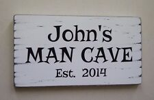 MAN CAVE Signs Personalised Shabby Vintage Style Sign Gift Idea