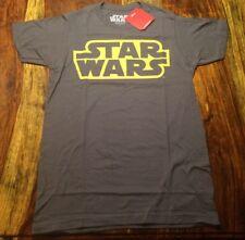 STAR WARS Disney Official  Retro Logo T-Shirt Original Authentic Gray Size S