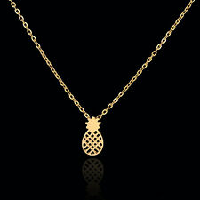 Gold / Silver Dainty Pineapple Pendant Necklace for Women Party Gift Cute Fruit