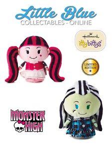 * Monster High * Frankie Stein & Draculaura * Hallmark Itty Bittys Bitty x2 LE