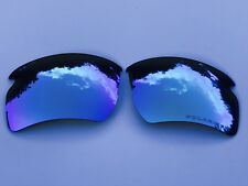 ENGRAVED POLARIZED ICE BLUE MIRROR REPLACEMENT LENSES FOR OAKLEY FLAK 2.0 XL