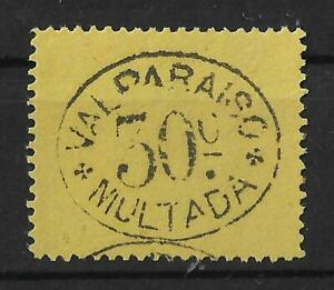 VALPARAISO CHILE 1894 Mint NH 50c Black on Yellow Unchecked Signed ROIG VF