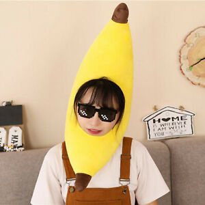 Unisex Funny Banana Hat Yellow Novelty Fancy Dress Party Head Accessory Hat