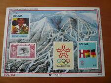 Bolivien Olympia 1988 Calgary Mi Bl. 173 postfrisch