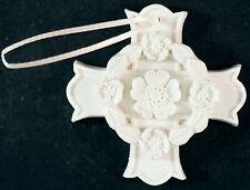 Margaret Furlong Porcelain Ornament in Box - Cross - Blooms of Hope
