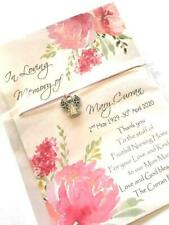 Personalised Funeral  Remembrance Wish Bracelet favours Thank you Angel Charms