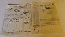 une lettre + facture  verrerie PAUL LAURENT & cie verreries réunies 1937
