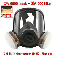 3M 6800 Full Face Facepiece Gas/Dust Mask Filter Painting Spraying Respirator VK