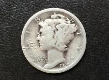 1925-P Mercury Silver Dime U. S. Coin D9330
