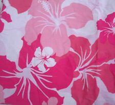 Pink Hawaii Hibiscus Twin Duvet Cover Island Surf Hula Aloha Lilu Tiki Luau