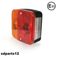 Fanale Posteriore 3 Funzioni + Targa Trattori Carrello Appendice Rimorchio E11