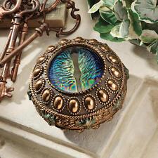 Medieval Fierce Deep Blue Dragon Eye Collectible Trinket Box Gothic Jewelry