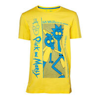 Official RICK AND MORTY Yellow T SHIRT Quality Gift