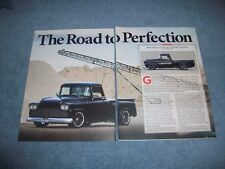 """1959 GMC 100 Stepside RestoMod Article """"The Road to Perfection"""""""
