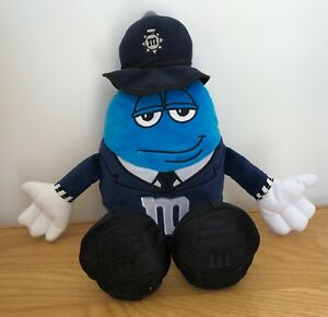 """M&M's M&M World Character London Policeman 14"""" Plush Soft Toy Cute Ex Condition"""