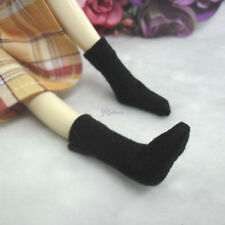 Blythe Pullip DAL Hujoo Momoko Obitsu 1/6 Body Doll Outfit Short Socks BLACK