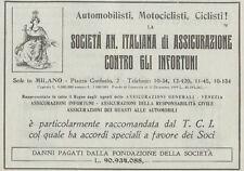 Z1992 Società An. Italiana di Assicurazione - Pubblicità d'epoca - 1920 Old ad