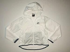 Nike Sportswear Women's White Windrunner Vented Full-Zip Jacket BV3939-100; XS