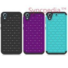 Diamond Case for HTC Desire 626 & 626s - Bling Jewel Gem Hard Cover 3 Colors USA