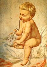1870s Ridge's Foor Blanc Mange Woolrich & Co Palmer, Mass Victorian Card Y3