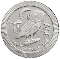 2018 Niue 1 oz Silver Athenian Owl $2 Coin GEM BU SKU52480