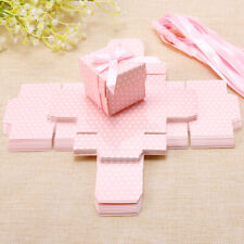 20 Pack Cute Favour Gift Boxes for Wedding Baby Shower Christening Birth Pink