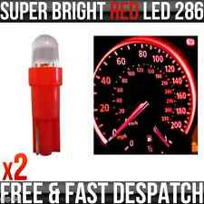 12v 1.2 W T5 5mm Super brillante LED rojo Cuña coche Dashboard & Speedo bombillas 286 X 2