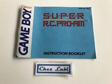 Notice - Super RC Pro AM - Nintendo Game Boy - PAL UKV