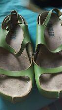 CAMPER cuir vert sandales 5 38
