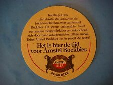 Beer COASTER ~*~ Amstelbrouwerij AMSTEL Bock Bier ~*~ Zoeterwoude, Netherlands