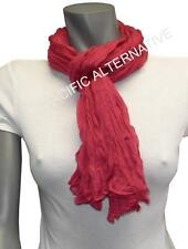 Foulard Rose Fushia 55x160 femme mixte chale leger echarpe NEUF scarf red pink