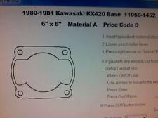 Kawasaki KX420  Cylinder Base Gasket 1980 1981
