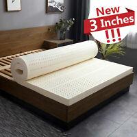 3/3.15'' Elasticity Latex Mattress Bamboo Charcoal Dormitory Sleeping Pad 5-Size
