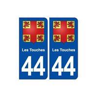 44  Touches blason ville autocollant plaque stickers droits