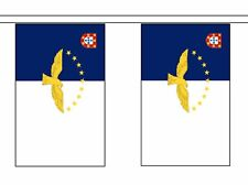More details for azores portugal flag polyester bunting - premium quality