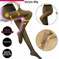 HOT!! Soft Winter Legs Fake Translucent Warm Fleece Pantyhose Tights Stockings